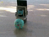 Video of robot KURT3D in real world, acting upon 